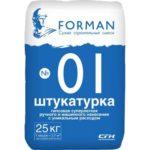 FORMAN № 01, 25 кг — гипсовая штукатурка