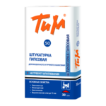 ТиМ №50, 30 кг — гипсовая штукатурка