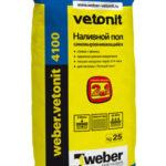 Weber vetonit 4100, 25 кг - наливной пол