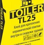 Клей для плитки TOILER TL 25 (25 кг)