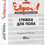 Стяжка для пола ЕВРО-Л 25 кг