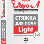 Стяжка для пола ЕВРО-Л Light 22 кг