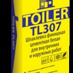 Шпатлевка цементная белая TOILER 307