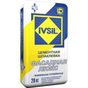 Ivsil Фасадная Люкс, 20 кг - шпатлевка цементная