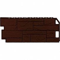 сайдинг цокольный камень коричневый