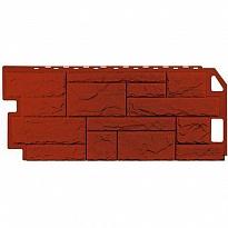 сайдинг цокольный камень красно-коричневый