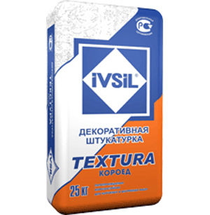 "Ivsil Текстура ""короед"", 25 кг — декоративная штукатурка"