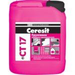 Ceresit (Церезит) CT 17, 10л - грунтовка