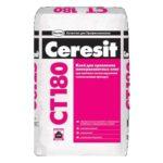Ceresit (Церезит) CT 180 (для минераловатных плит), 25 кг - клей монтажный
